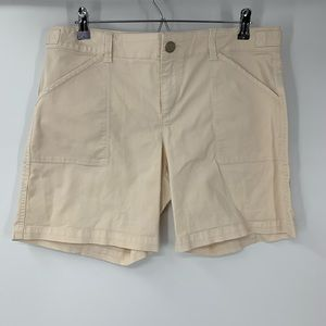 SANCTUARY creme shorts
